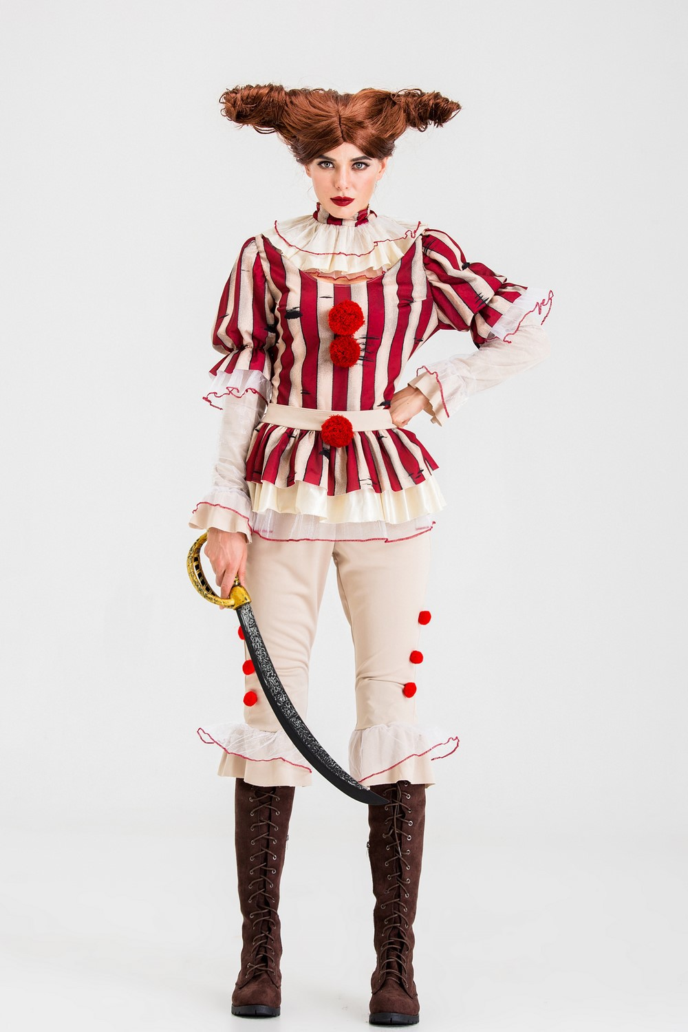 Costume role play suit, game uniform, circus stage costume, Halloween cosplay, clowns soul returning woman