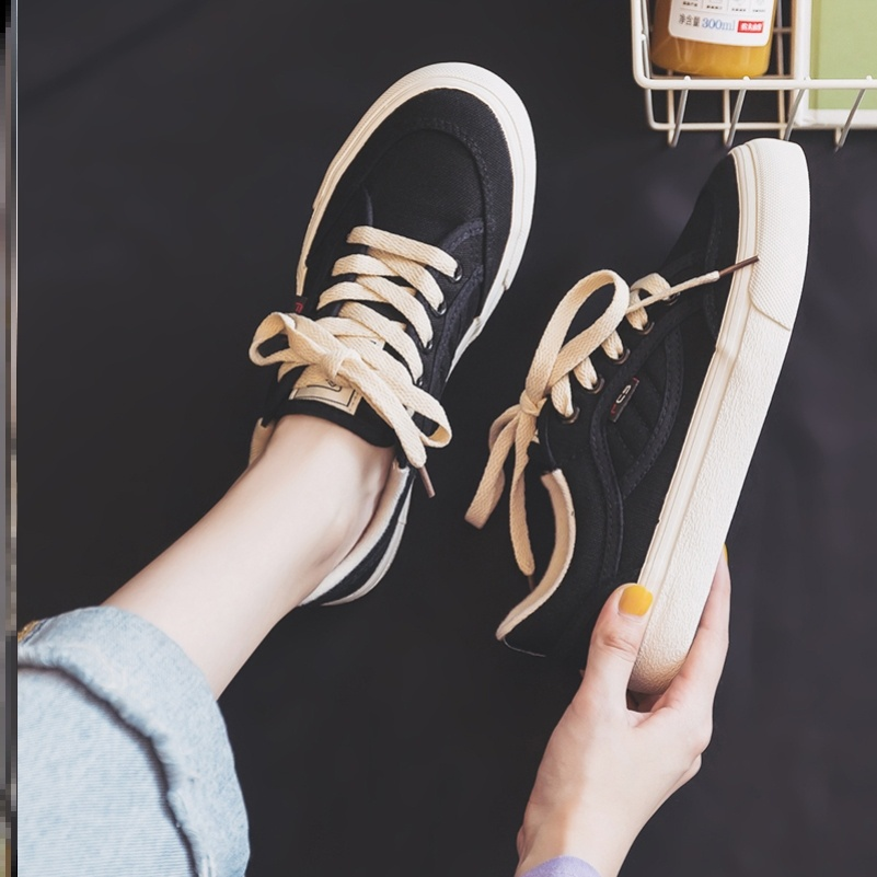 College Students work canvas shoes womens small white shoes Korean version simple and light street pattern washing women and girls