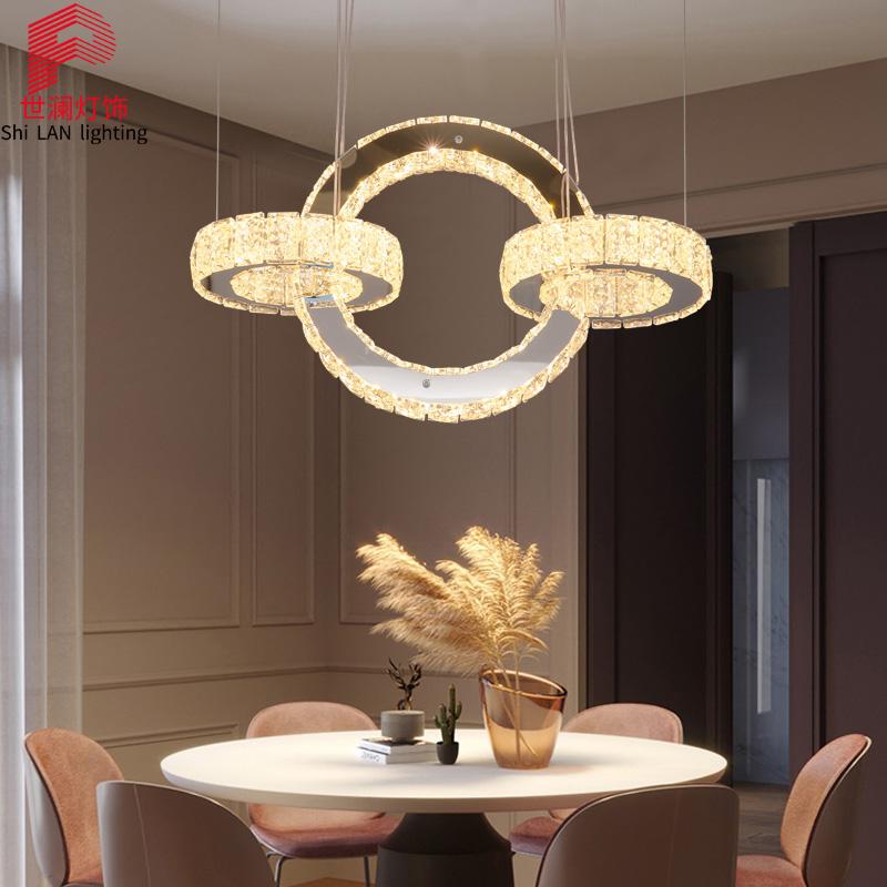 10-10新券餐厅餐桌灯北欧轻奢水晶吊灯具吊灯