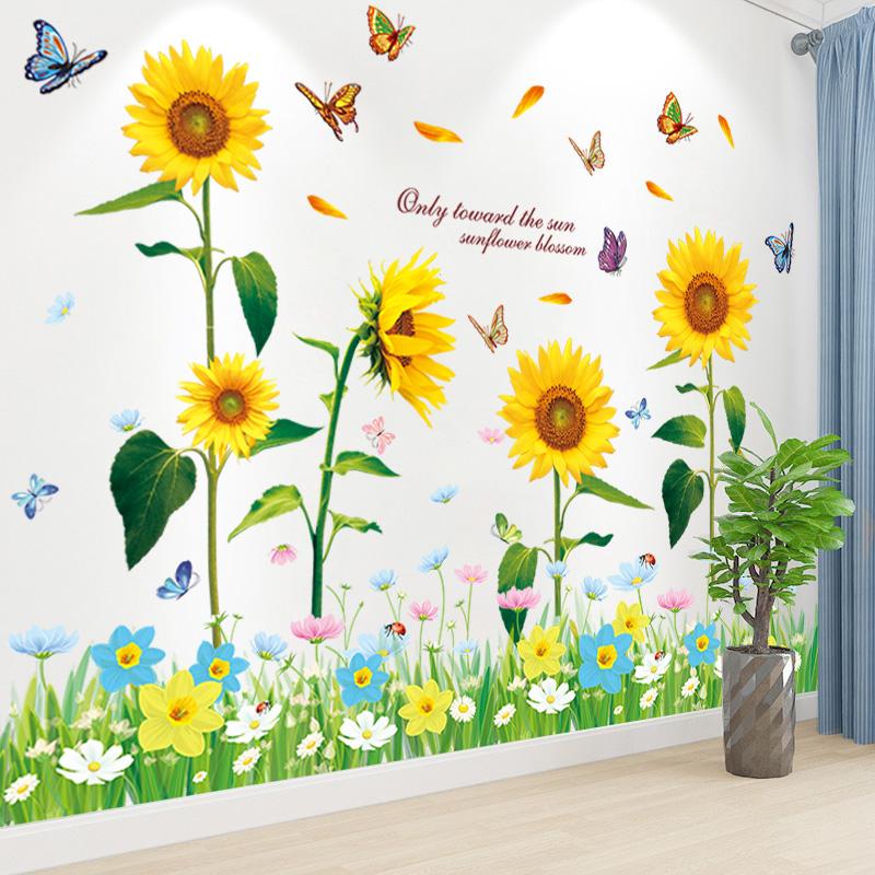 温馨卧室布置墙面装饰墙壁贴画墙纸