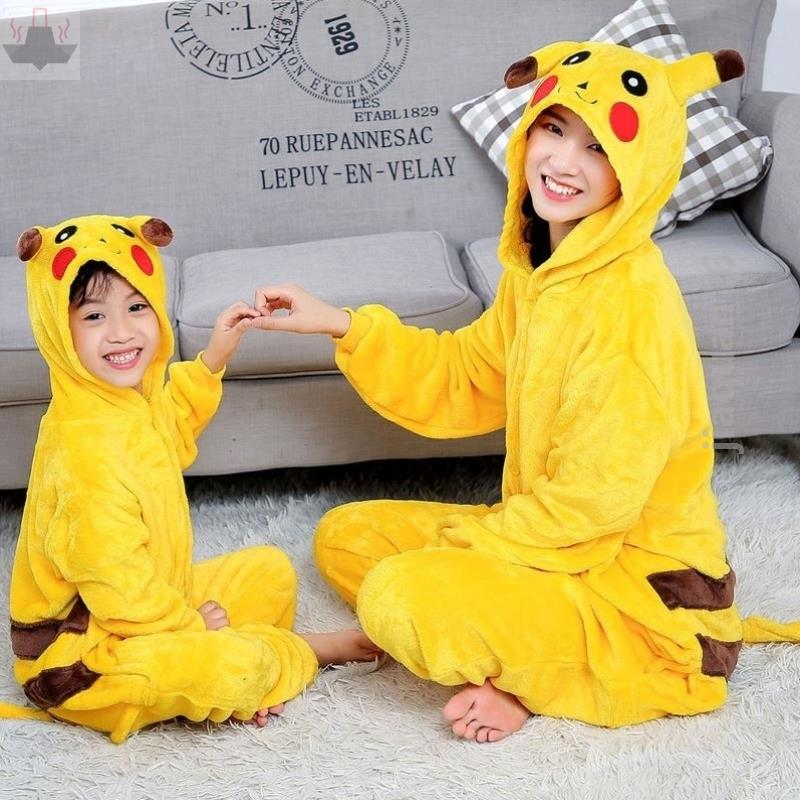 Parent child Dance Costume womens coral velvet pajamas childrens conjoined childrens thin boys kickproof sleeping bag home clothes