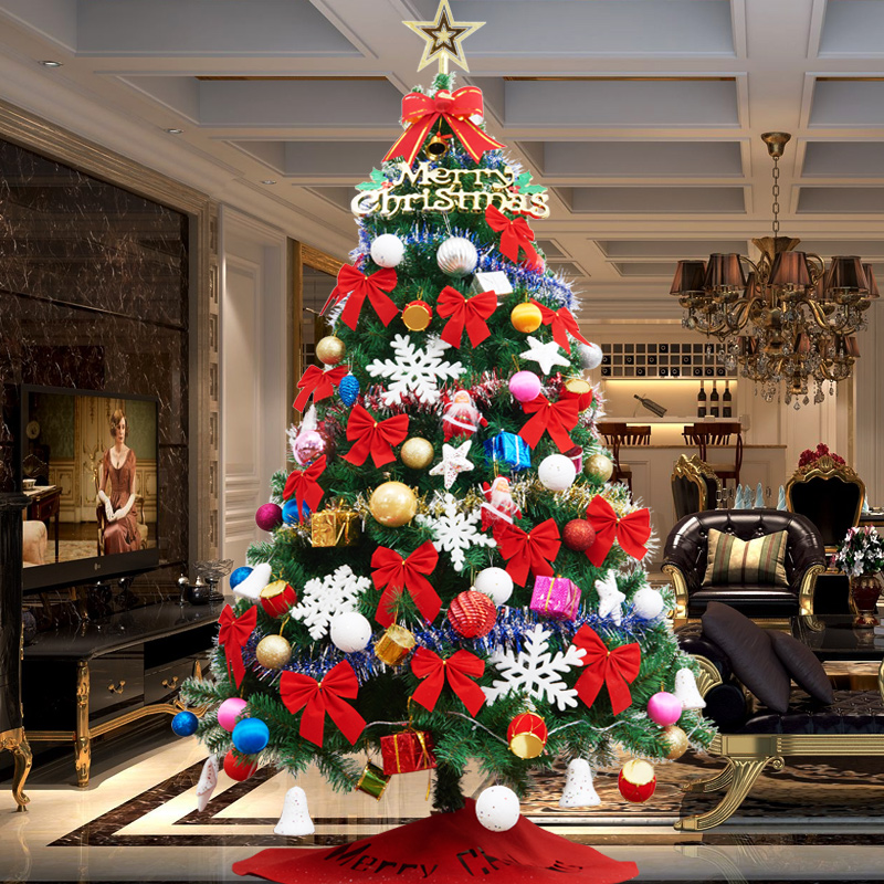 Deluxe encrypted home 1.5m 1.8m 2.1 Christmas tree package with Christmas decorations size 60cm