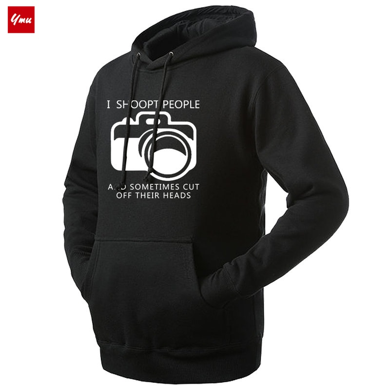 I show people photographer cameraman Hooded Sweater digital SLR camera mens and womens Fashion Top