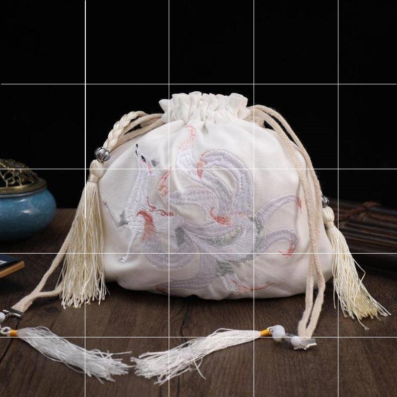 小包包包古风汉元素复古简便中国风绣花女士古装刺绣手袋搭配手拿