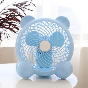 台式卡通静音电风扇学生宿舍桌面办公室迷你扇7寸小型强风桌扇