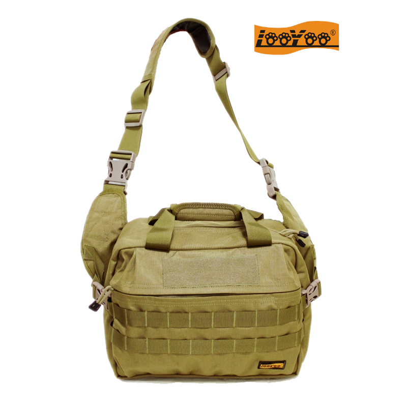 Looyoo / a89 large capacity saddle bag mens single shoulder backpack multifunctional multi space storage bag foreign military nylon material