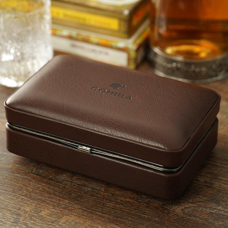 保湿盒 雪茄保湿雪茄盒 雪茄打火机木保湿皮盒 保湿剪雪松套装 Изображение 1