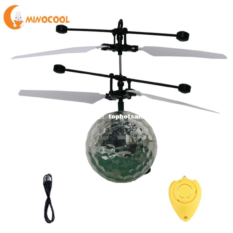 kids rc flying ball helicopter toys drone helicopter ball bu