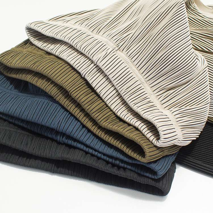 Womens high waist ice silk knitted pleated loose straight tube drop stripe casual floor dragging long pants in summer