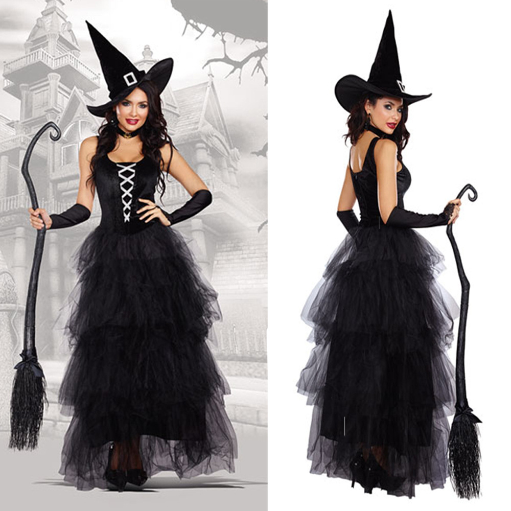 Sorcerer role play costume bar theme party stage costume Halloween NEW fairy tale classic girl