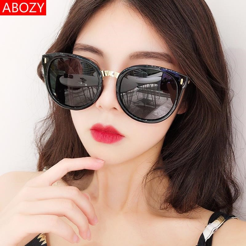 Big face Sunglasses big face fat round face big face Polarized Sunglasses anti ultraviolet Sunglasses female retro Hong Kong Style