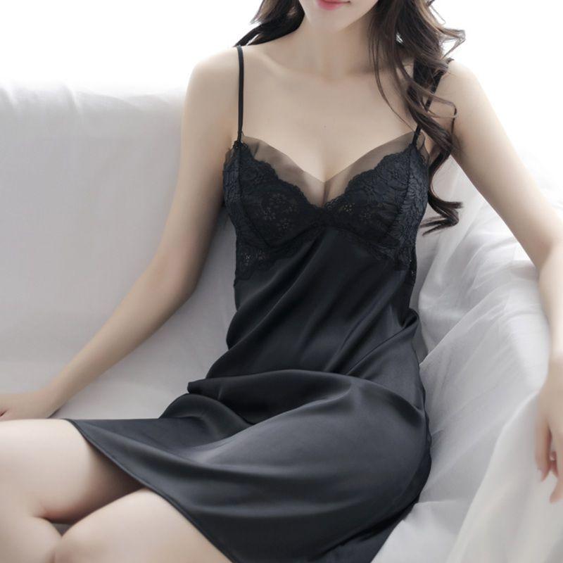肯珂圣吊带睡裙女夏性感火辣蕾丝情调内衣