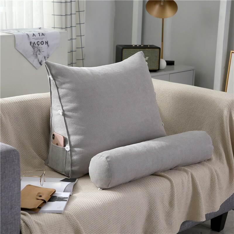 沙发靠垫抱枕大三角靠垫床头软包靠垫办公室腰靠背垫床上护颈靠枕