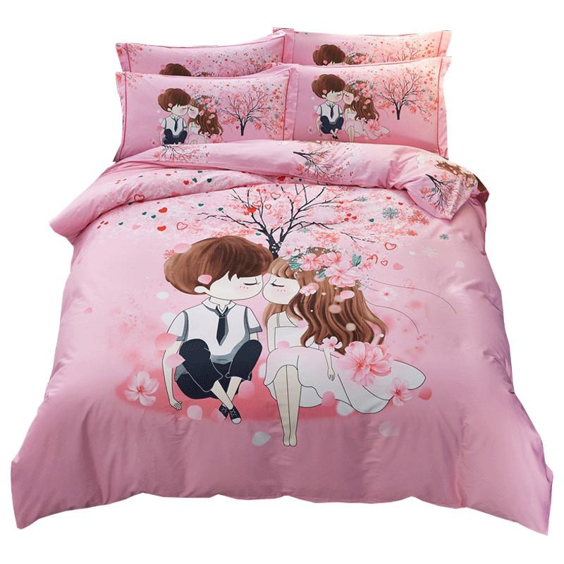 床上用品婚庆情侣床品家纺全棉3d纯棉四季套件公主风四件套