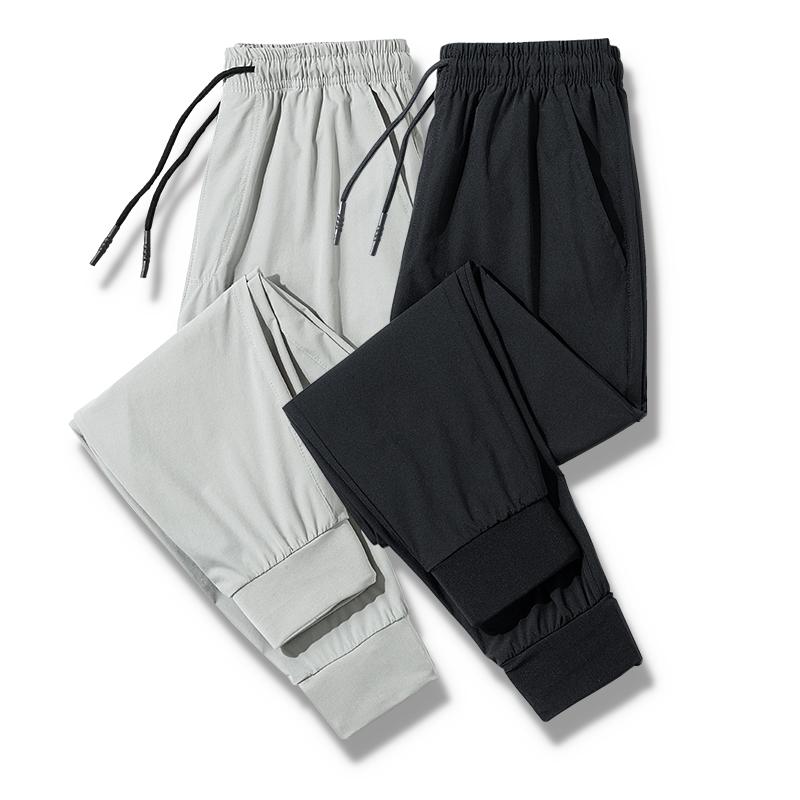 ジョーカー2020新型ズボン男性カジュアル修身アイスワイヤー通気性、足の9分のズボンの弾力性のあるストレートズボン男性
