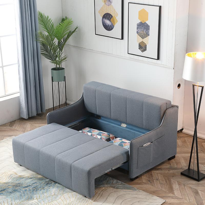 佛山家具収納ソファベッドの2つは、小型ソファ、2つの簡単なリビング布、多機能折りたたみができます。