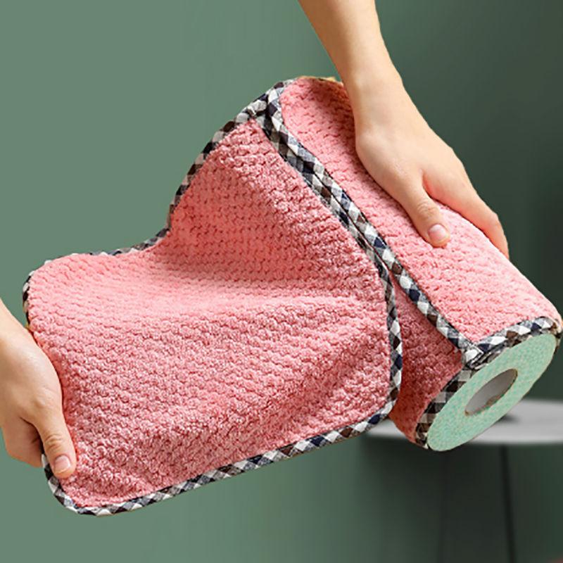 不沾油不掉毛厨房巾擦手巾洗碗布