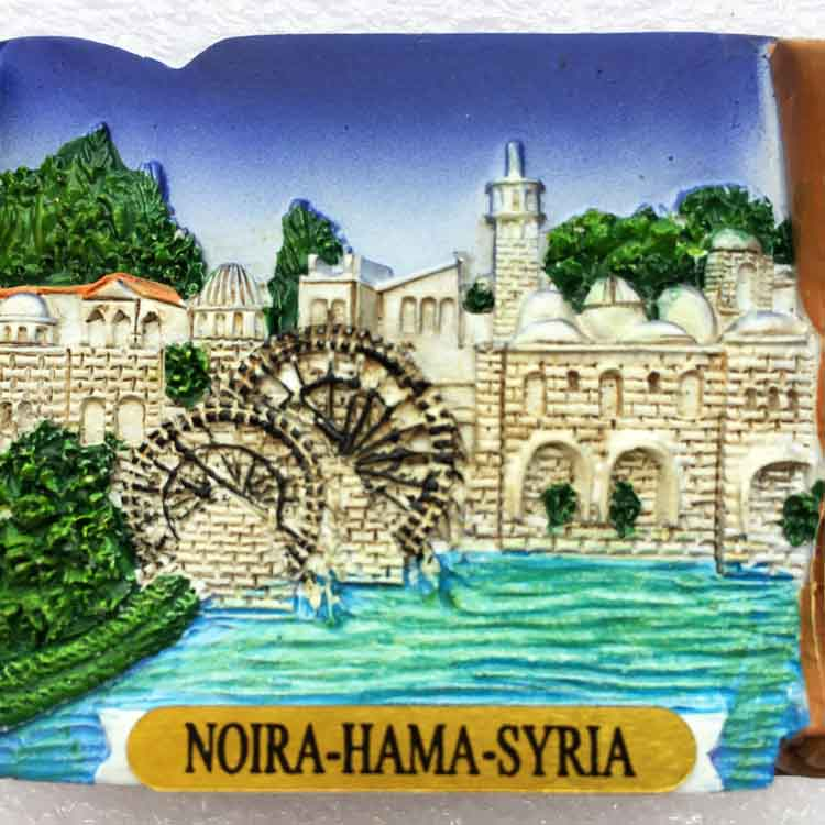 South Korea time and historic sites Middle East Syria HAMA water wheel travel collection stereo scenery refrigerator paste home