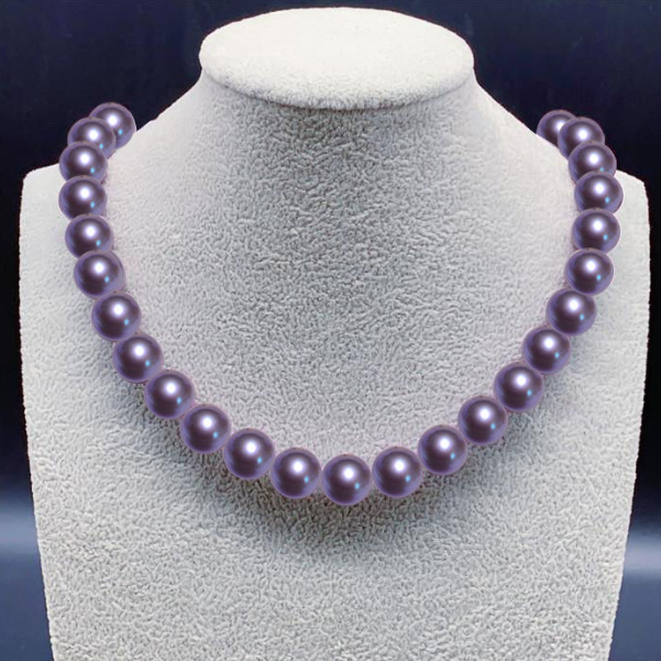 Pearl necklace of sea water mother oyster pearl necklace of Tahiti black shell pearl of Nanyang gold pearl