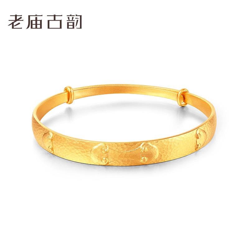 Old temple ancient charm gold 999 Bracelet ancient charm ancient law gold luck lotus Ruyi Bracelet / 1170000473 price