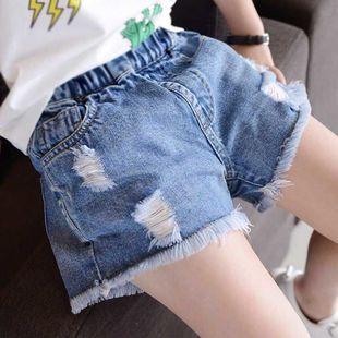 女童牛仔短褲2020新款小女孩洋氣童褲兒童五分褲中大童外穿熱褲夏
