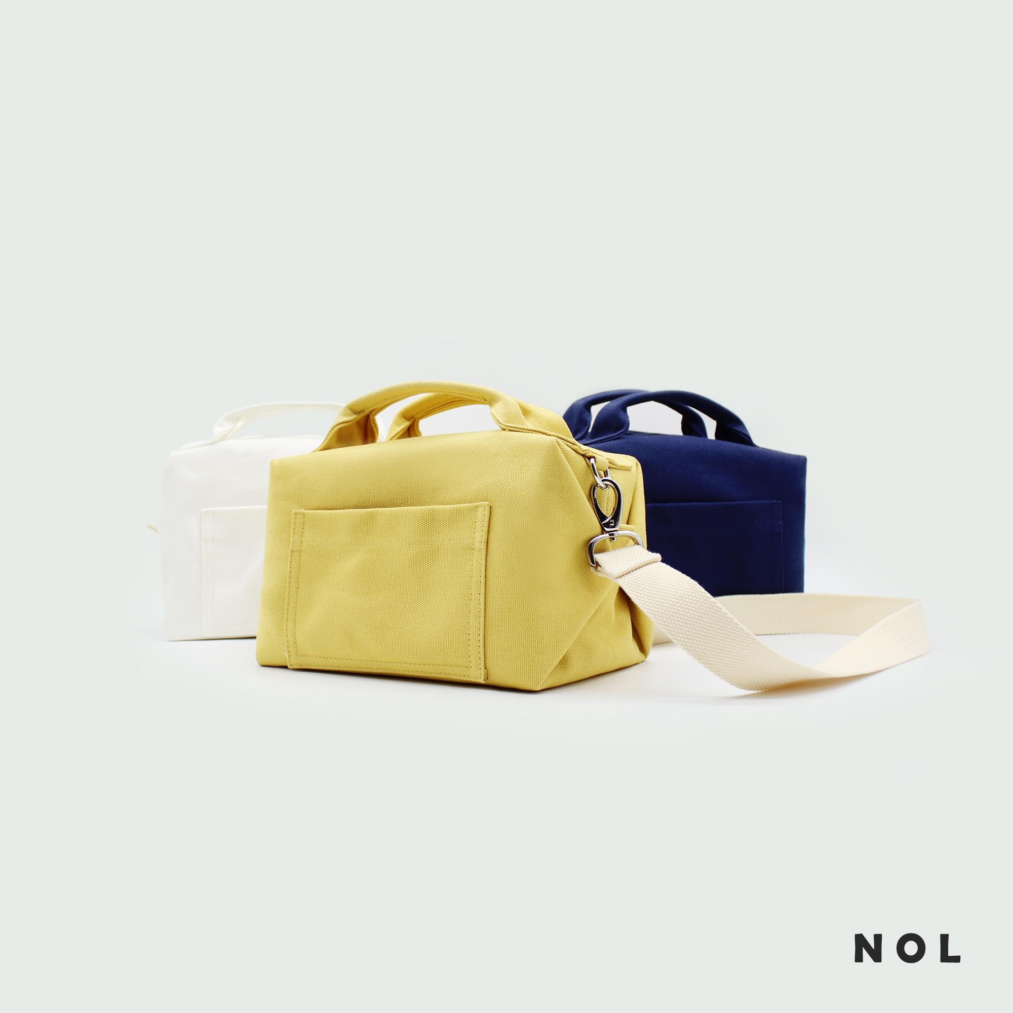 NOL环保帆布防水保温内里便当袋午餐便当饭盒袋手提拎包