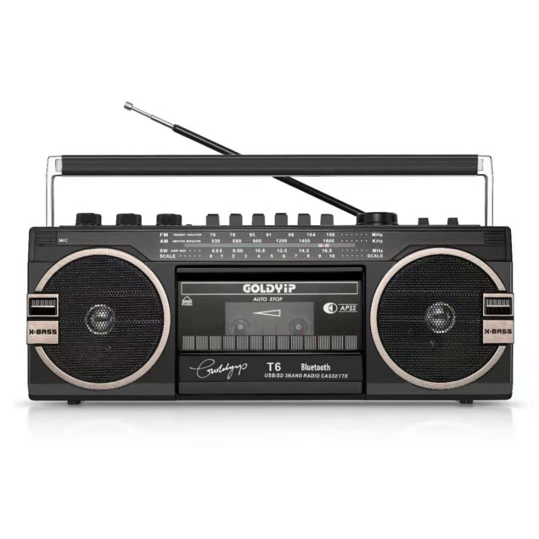 录音机磁带机老式怀旧小型音响放磁带可循环80年代老物件多功能