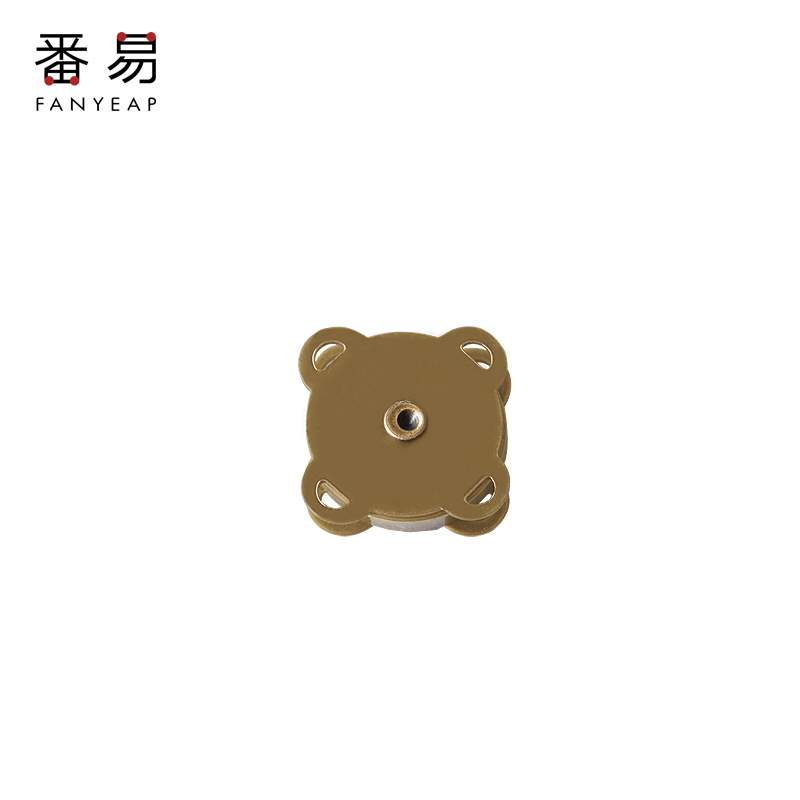 Invisible accessories magnet bag with concealed button and seamless suction cup wallet button, metal magnetic button and button