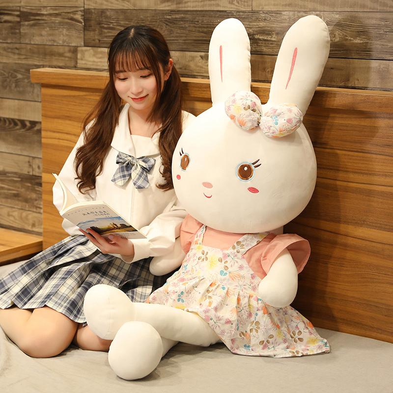 兔子毛绒玩具公仔玩偶大号床上睡觉抱枕女孩小白兔布娃娃可爱儿童