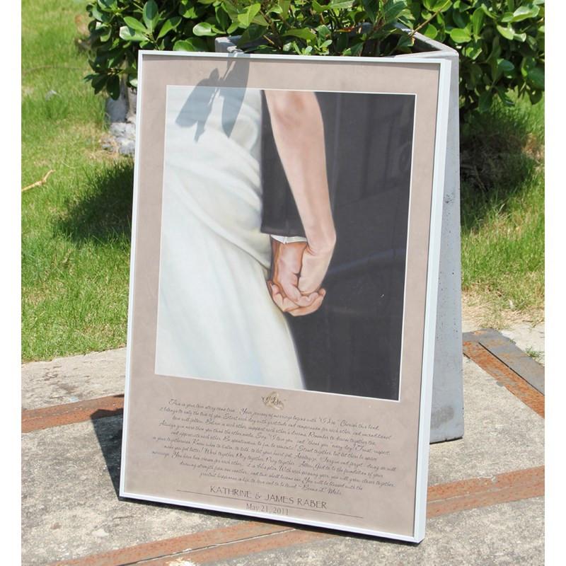 金属相框挂墙洗照片加框创意摆台七寸海报框北欧画框定制任意尺寸