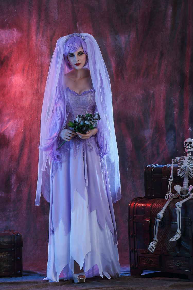 Halloween role play white zombie ghost Bride Costume ghost day Costume Costume Dance Costume nightclub stage costume