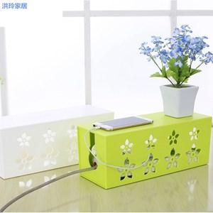 路由器收纳盒电线收纳盒wifi插座插排插线板收纳盒整理线盒理线器