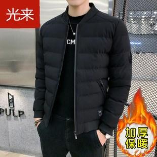 2019新款秋冬加厚新款棉衣男士冬季外套潮流羽绒棉袄棒球领棉衣