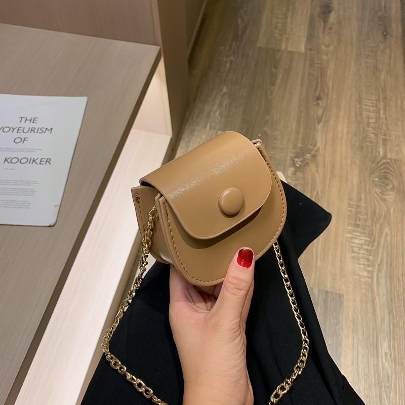 South Korean saddle brand new chain Mini Bag 2020 piece Single Shoulder Messenger single shoulder bag small bag new bag texture