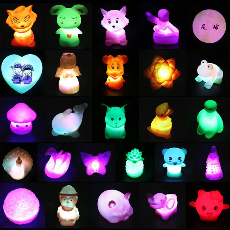 Park Nightlight ring toy stall prize luminous school portable baby ring Q home nostalgia