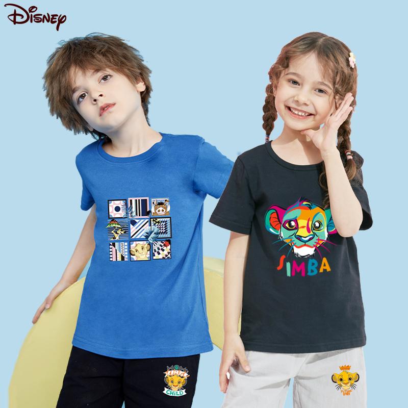 迪士尼童装男女童夏装2021新款儿童短袖短裤纯棉套装夏季衣服裤子