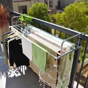 阳台栏杆可折叠悬挂式晾衣架置物架室外多功能晒鞋架晾晒架窗外伸