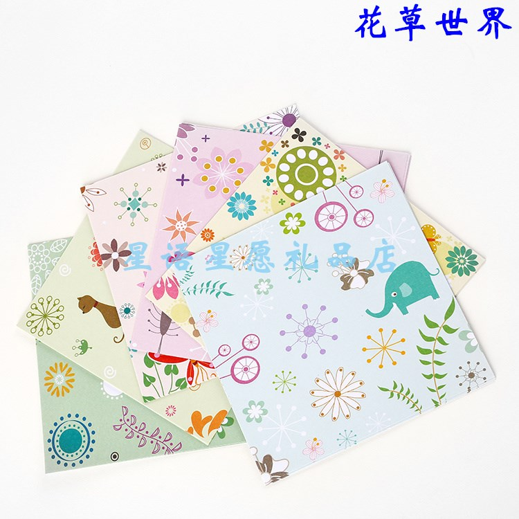 Color paper with patterns on one side of childrens Handmade affordable cardboard painted with colorful patterns thickened cartoon hand