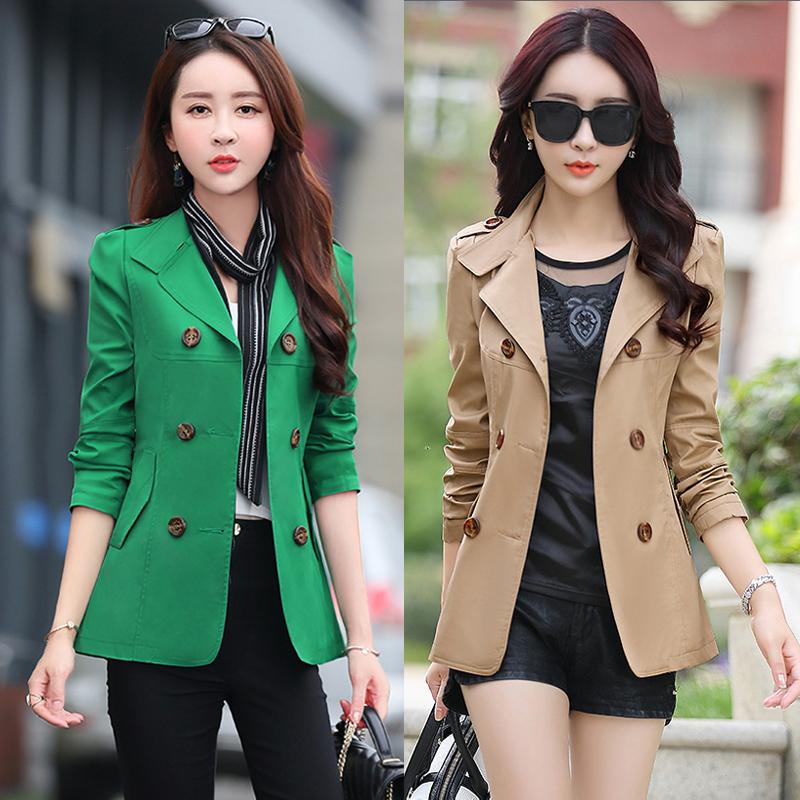 韩版衣服30-35-40岁2016春秋新款中年妇女装妈妈装短款风衣外套潮