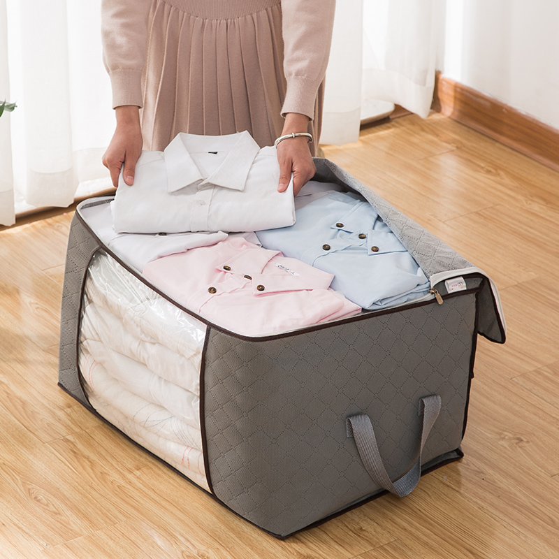 The bag for the quilt is dust-proof and moisture-proof, the storage bag for the clothes is cotton quilt, the bag for the clothes is moved, the bag for the luggage is packed