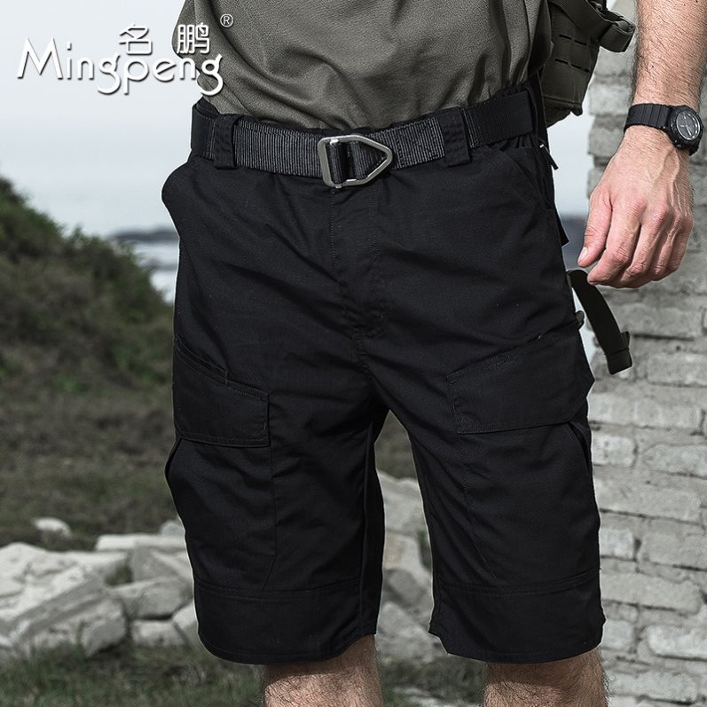 Camouflage shorts mens summer leisure outdoor cotton Multi Pocket wear resistant tactical pants