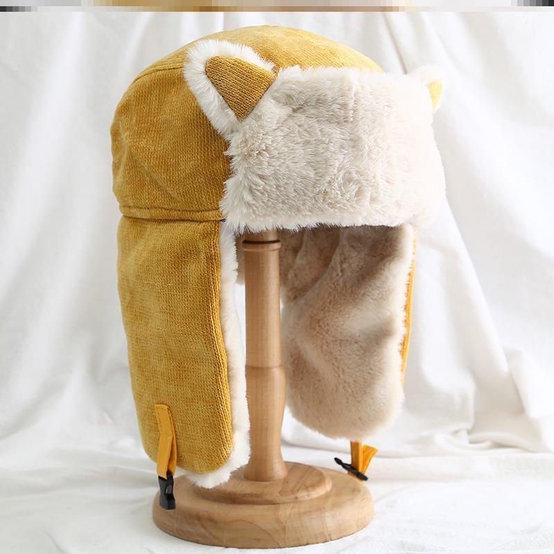 快递员中年冷保暖防寒子女加厚骑车护耳东北护眼儿童军大衣雷锋帽