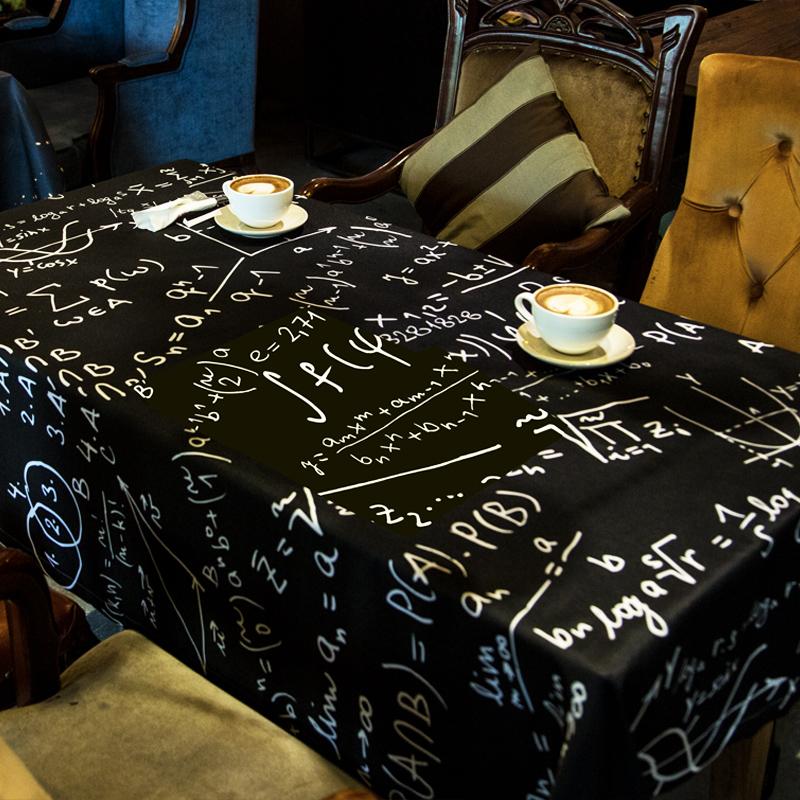 简约北欧风家用桌布茶几餐桌咖啡厅学生书桌个性网红宽长方形桌垫