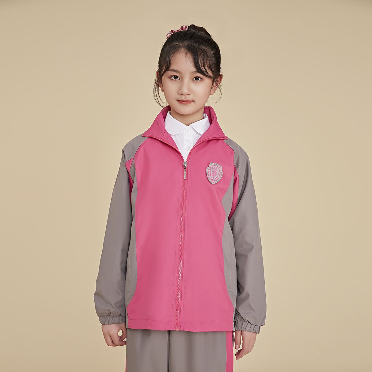 New school designated store golden bird school uniform school uniform set of primary school affiliated to Jiangxi Institute of science and Technology (girls)