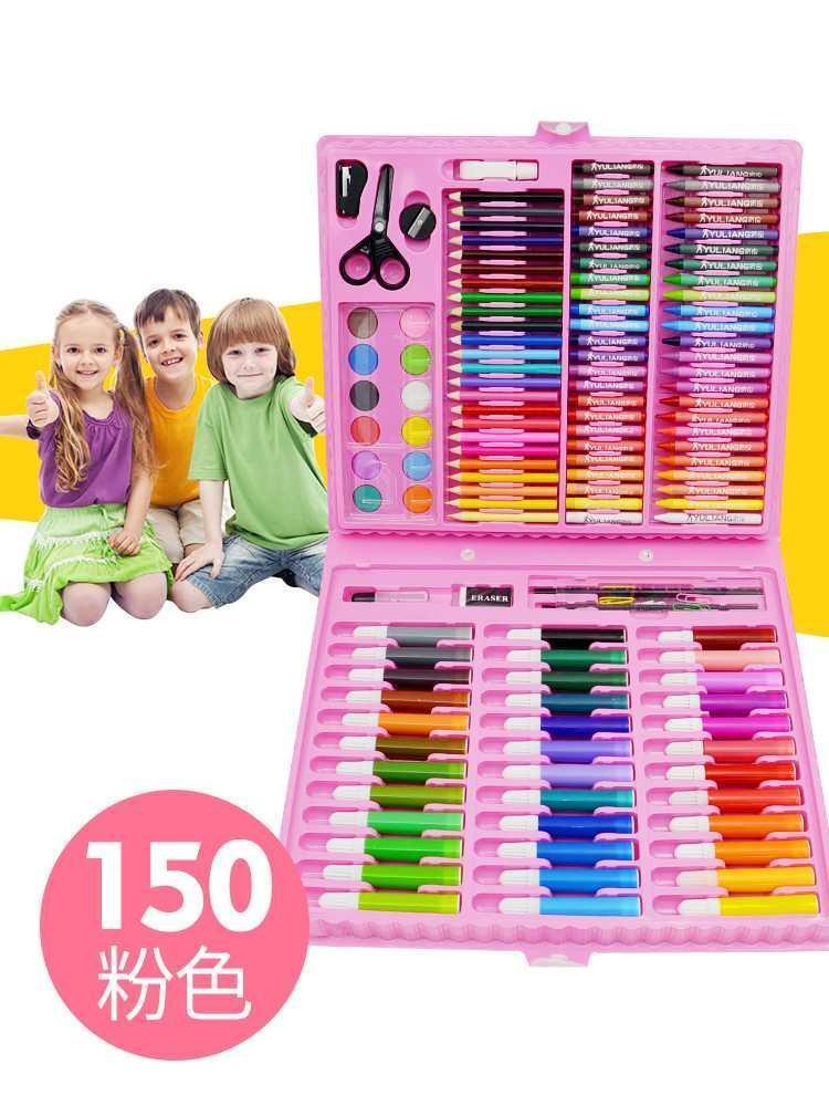 タオバオ仕入れ代行-ibuy99|美术用品|小学生画画工具组合学习文具礼盒美术用品绘画水彩笔儿童画笔套装