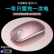 Huawei华为戴尔联想惠普华硕无线鼠标可充电式静音无声蓝牙无限电池超薄滑鼠女生苹果平板笔记本电脑台式通用