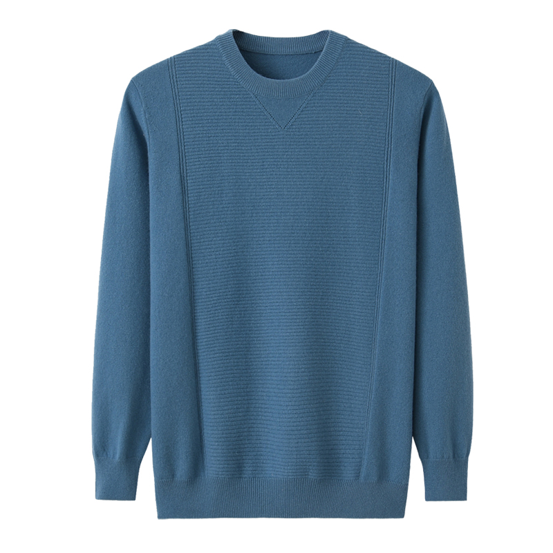 Nianchang pure cashmere sweater mens round neck Pullover Sweater bottom 100% cashmere sweater long sleeve mens top