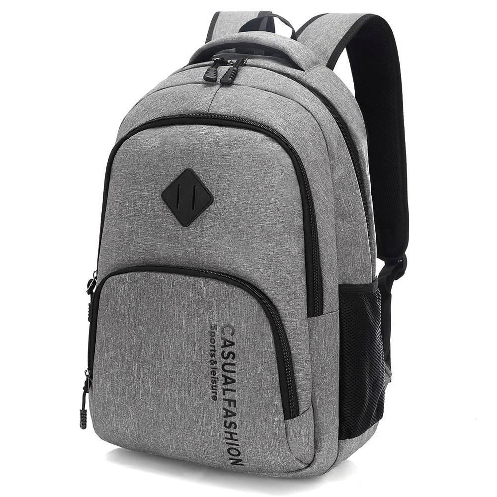 Mens backpack rechargeable middle aged backpack mens senior travel canvas mens