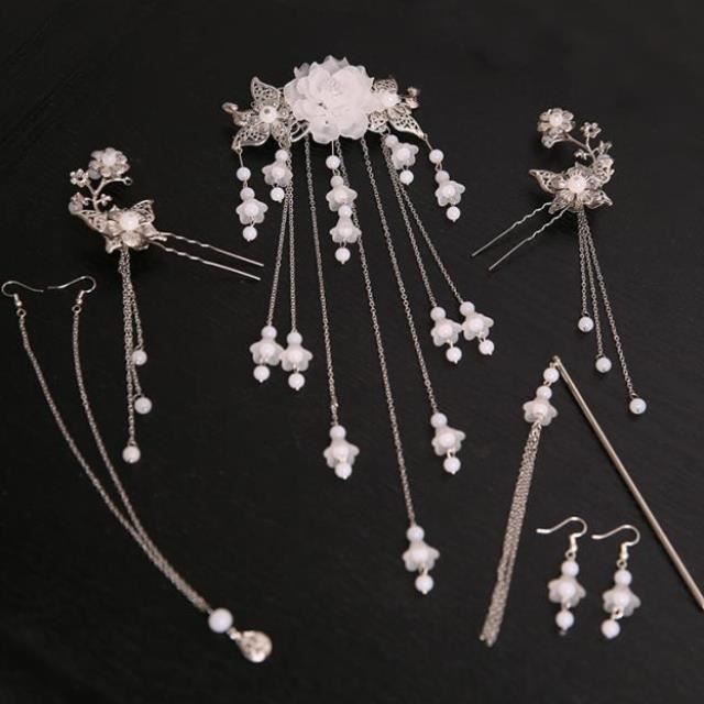 Accessories matching Han clothes a full set of ancient costume straps clothes accessories on the waist belt long tassel streamer headdress