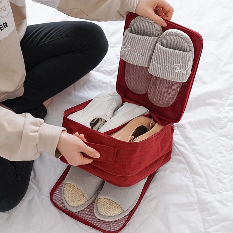 装鞋子的收纳袋包旅游防尘便携行李箱神器鞋套鞋袋鞋包旅行鞋袋子